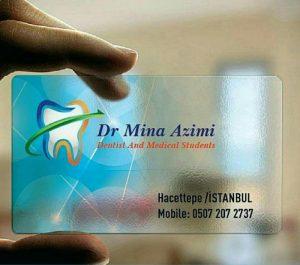 کارت ویزیت شیشه ای اصفهان